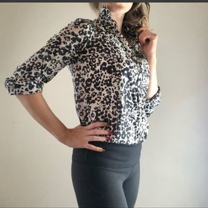 J. Crew animal print button-up size small